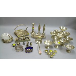 Forty Sterling Silver Tableware and Items