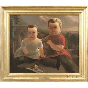 A.M. Burrell (American, fl. circa 1849)    The Brothers