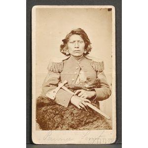 Carte de Visite of a Pawnee Scout