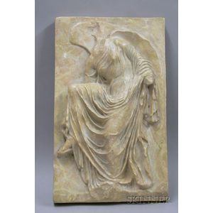 Carboni Painted Plaster Relief Wall Plaque