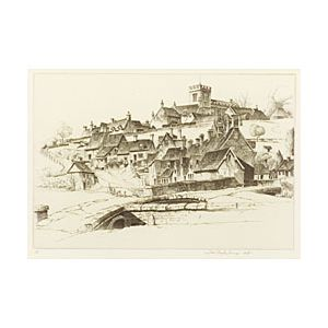 Lot of Two Prints:  John Taylor Arms (American, 1887-1953) The Old Order