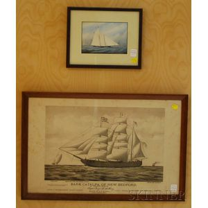 Two Framed Prints of Sailboats