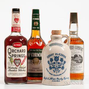 Mixed American Whiskey, 1 quart bottle 3 4/5quart bottles