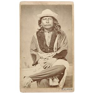 Rare Carte De Visite of a Wichita Man