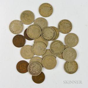 Twenty Liberty Head Nickels