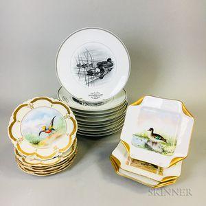 Twenty Porcelain Bird Plates