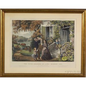 Currier & Ives, publishers (American, 1857-1907)    The Four Seasons of Life:  Middle Age.