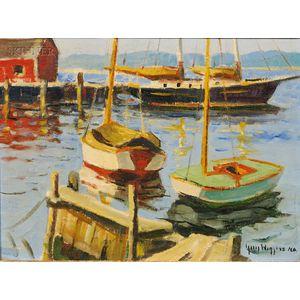 Guy Carleton Wiggins (American, 1883-1962)      Essex Harbor