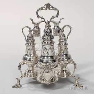 George III Sterling Silver Cruet Set