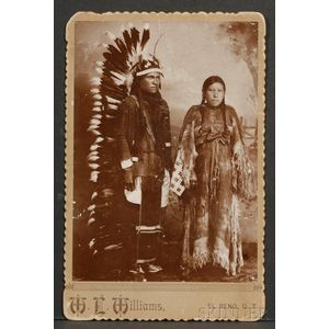 Cabinet Card of Southern Plains Couple