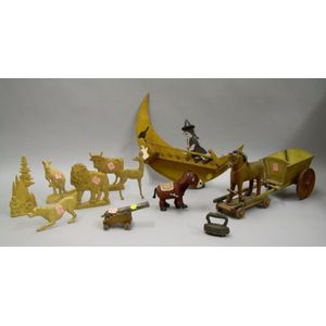 Group of Toy and Folk Figural Items