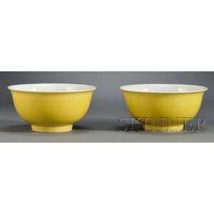 Pair of Yellow Bowls