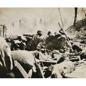 "American School, 20th Century      Tossing a ""Strike"" for Jap Pillbox, Tarawa"