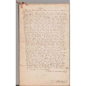 Bulwer-Lytton, Robert 1st Earl of Lytton (1831-1891) [aka Owen Meredith] Helias,   Autograph Manuscript.