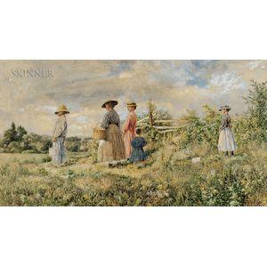 John William Hill (American, 1812-1879)      Berry Pickers