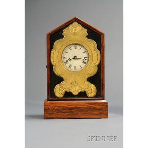 Rosewood Shelf Clock by Chauncey Jerome