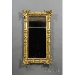 Classical Gilt-gesso and Wood Pier Mirror