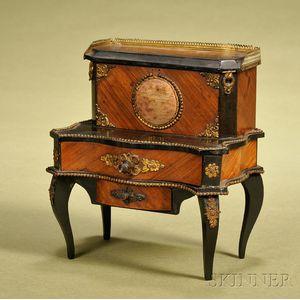 Napoleon III Brass-mounted Tulipwood and Part-ebonized Miniature Table