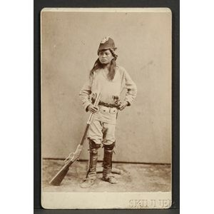 Cabinet Card of a Navajo Scout