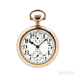 """Elgin """"Father Time"""" Watch with Wind Indicator"""