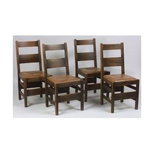 Six Arts &Crafts Side Chairs