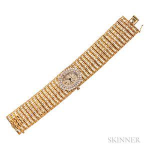 14kt Gold and Diamond Wristwatch