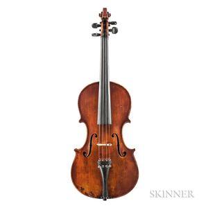 American Violin, James Oliver McCauley, Worcester, 1888