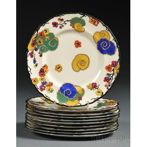 Set of Ten Royal Doulton Service Plates