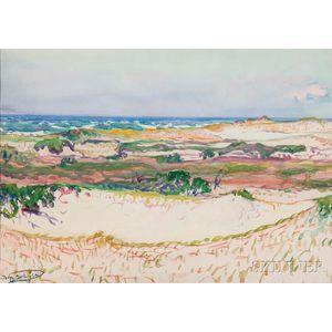 Dodge Macknight (American, 1860-1950)      Dunes and Sea