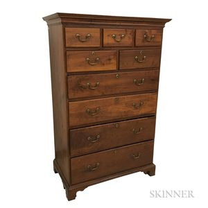 Chippendale Cherry Tall Chest