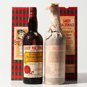 Sandy MacDonald, 2 4/5 quart bottles (oc)