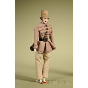 Papier-mache Gentleman with Molded Top Hat