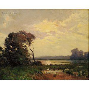 William Jurian Kaula (American, 1871-1953)      Late Afternoon (Essex, Ma)