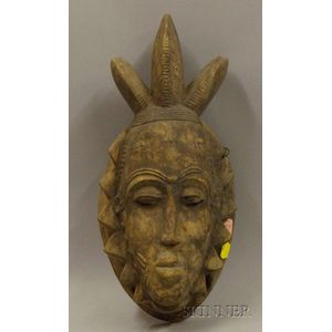 African Carved Wooden Mask