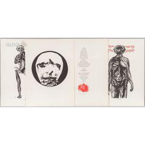 After Leonard Baskin (American, 1922-2000)      Fifteen Woodcuts   Portfolio