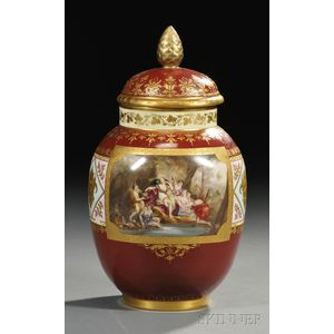 Vienna Porcelain Jar and Cover