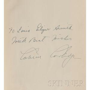 Coolidge, Calvin (1872-1933), Presentation Copy