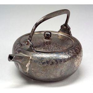 Silver Sake Ewer