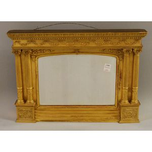 Small Neoclassical-style Carved Giltwood Framed Mirror
