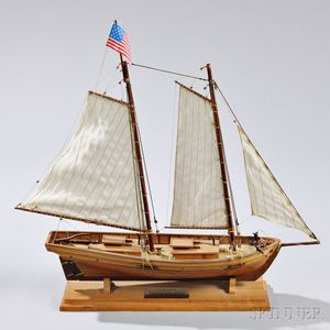 Small Model of the Virginia Pilot Boat Swift
