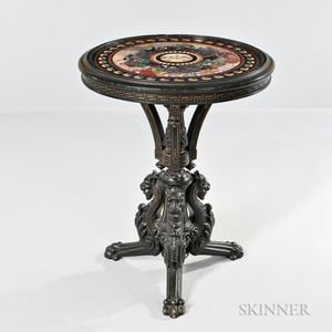 Grand Tour Micromosaic and Specimen Table with Eastlake-style Base