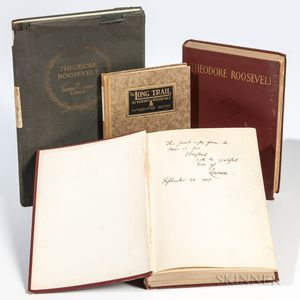 Roosevelt, Theodore (1858-1919) Four Titles Related to the President, Signed by their Authors or Publishers.
