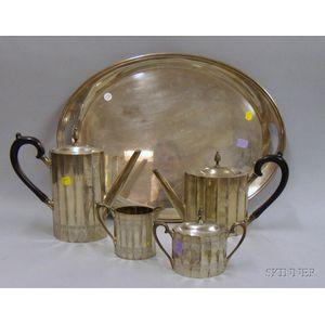 Lunt Four-piece Revere-style Silver Plate Tea/Coffee Service