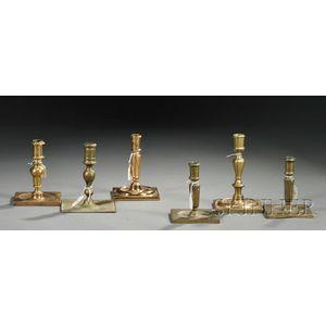 Six Spanish-style Brass Candlesticks