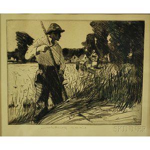 William Lee-Hankey (British, 1869-1952)      The Field Worker