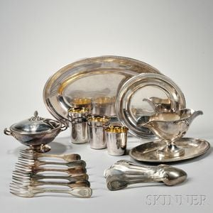 Twenty-two Pieces of Christofle Silver-plate Tableware