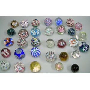 Thirty-two Art Glass Paperweights
