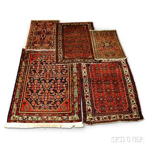 Five Oriental Small Rugs