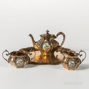 Four-piece Reed & Barton Sterling Silver-gilt Tea Service