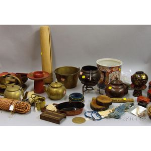 Group of Asian and Other Ethnographic Items